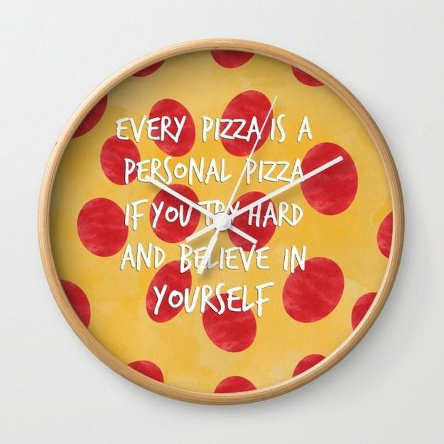 15. This motivating wall clock: