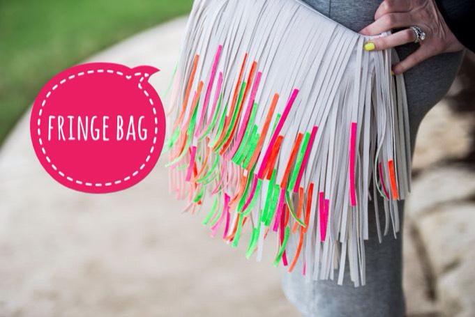 13 | DIY Nail Polish Fringe Bag  A little nail polish adds new life to an old fringe handbag.