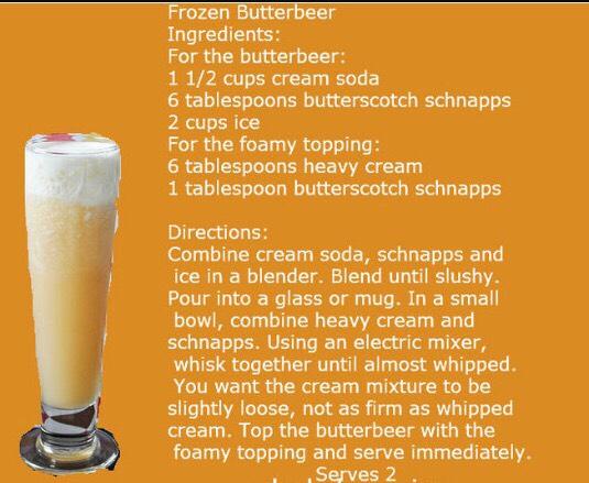 Frozen butter beer
