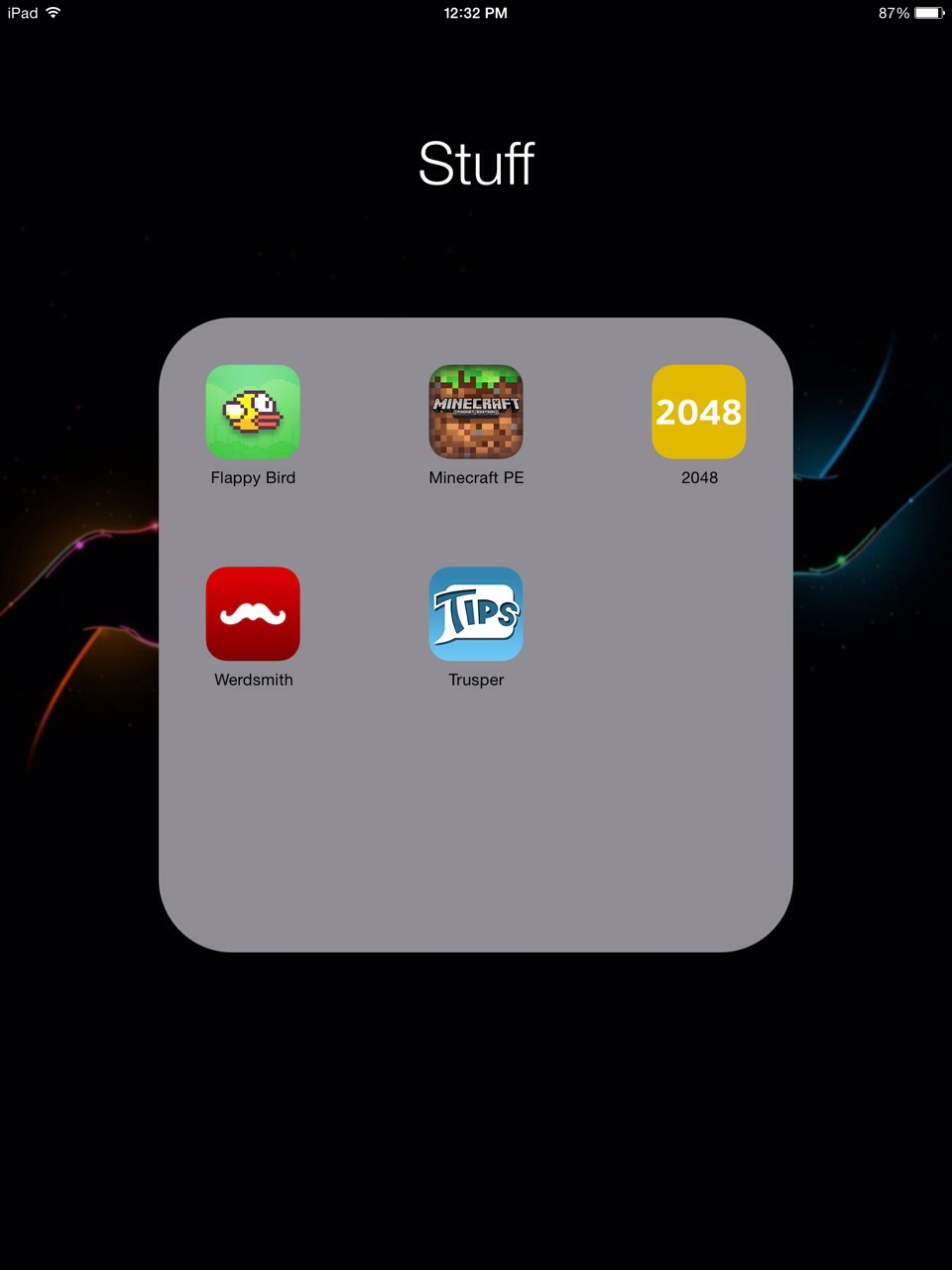 These are all of the apps I have on my iPad And I use them all everyday