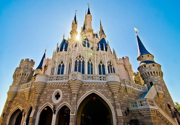 Cinderella castle is actually made out of fibreglass!