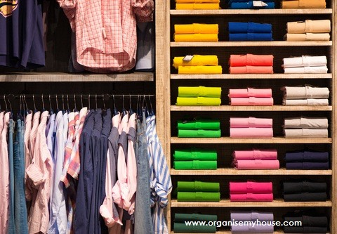 16. Color coding your wardrobe makes finding things easier. It's hard but once you got it done it will be easy to keep it that way and you'll never want to go back!