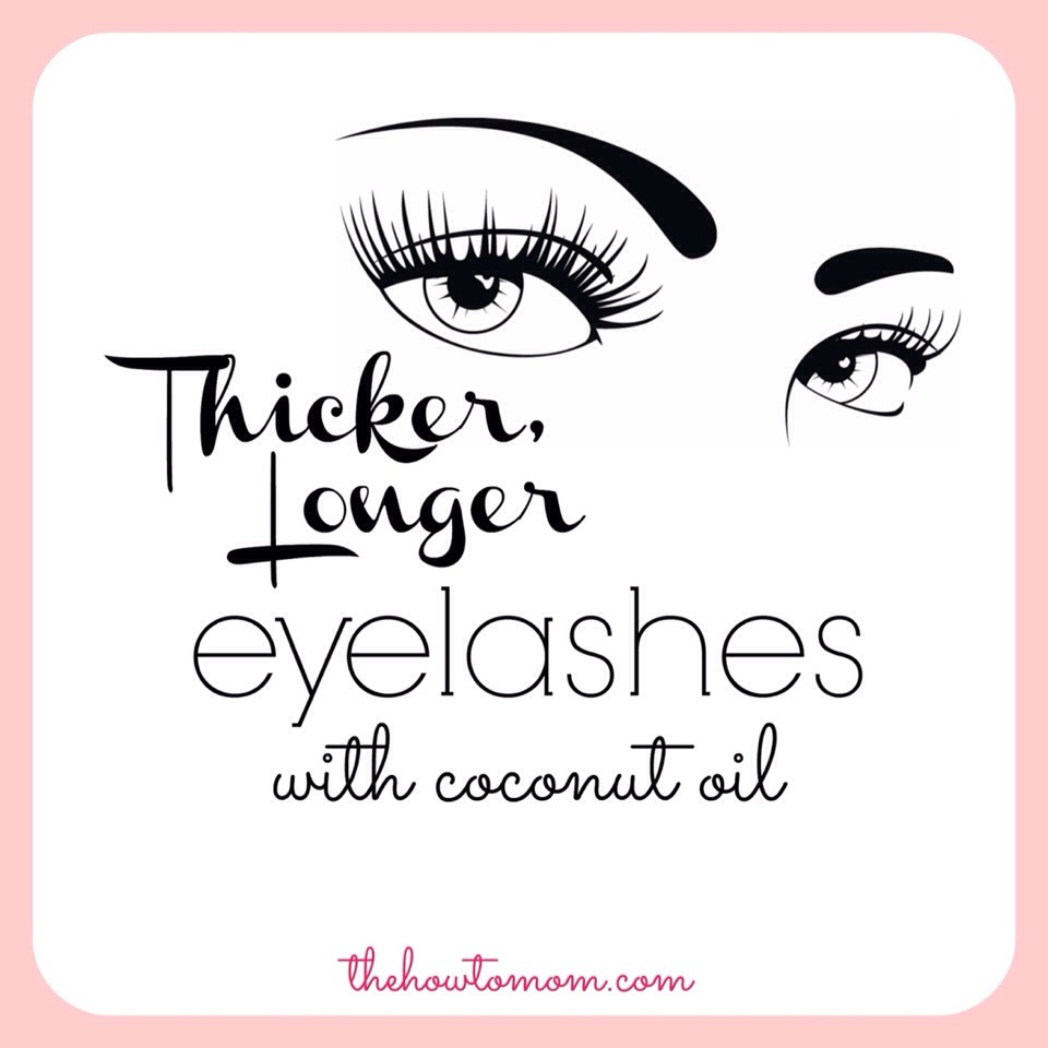 Add coconut oil on eyelashes overnight