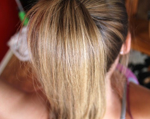 Oil hair, lighten hair color