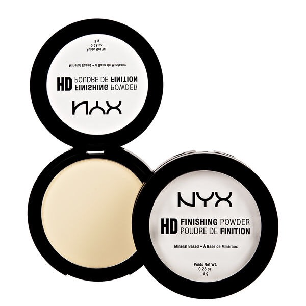 The NYX hd translucent pressed powder is amazing. Doesn't make you look cakey and there is no white flash in pictures. They also make a banana shade which I recommend if you have a medium-deep skin tone like I do.