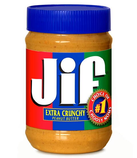 place 1 cup of peanut butter into a medium size bowl.
