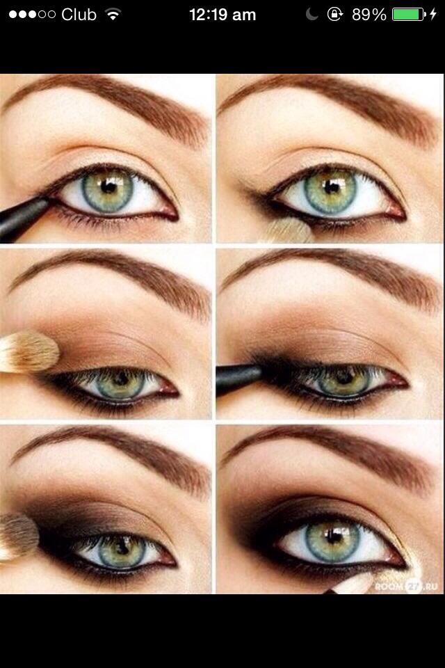 Simple eyeshadow (black and brown)