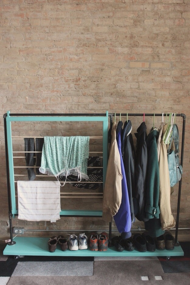 2. Build or buy extra rod space if your room can handle it.  DIY: http://www.splitthelark.com/2012/04/downsizing-days-maximizing-your-closet.html