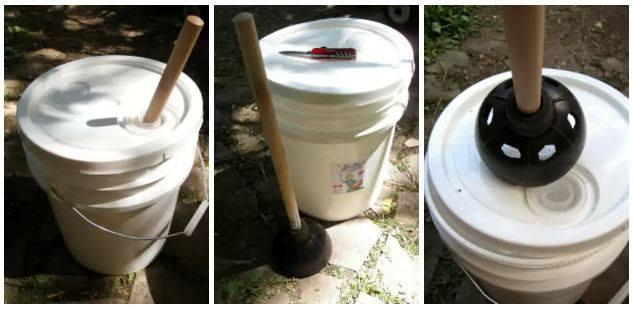 Great for bathing suits, towels and kids shirts (before stains can set in!) while camping aka Hillbilly Washing Machine .