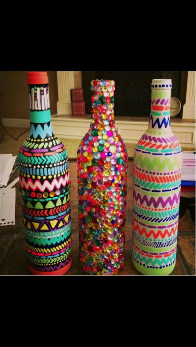 Decorate old bottles!