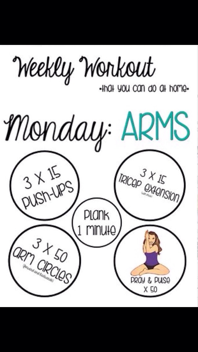 Mondays ! We all know the worst! But the best. Get your body moving and you want those arms to be beautiful! ☺️