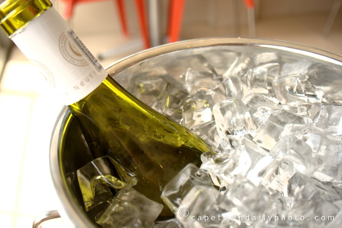 Quick-chill wine! Simply place the bottle in a wine bucket or tall container filled with ice, water and a handful of salt. The salt causes the ice to melt at a lower temperature which chills the water faster and makes it colder. In less than 10 minutes you'll have perfectly chilled wine!