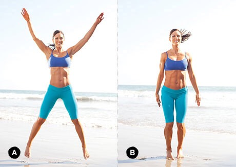 Get your self warmed up with jumping jacks any more than 50