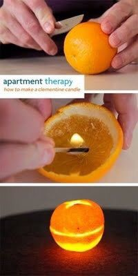Did you know oranges will light like a candle?!