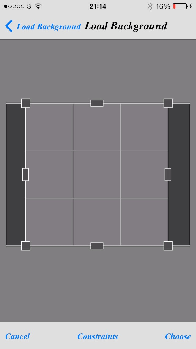 First add a background (preferably plain) and use constraints to make sure your picture comes out the right size