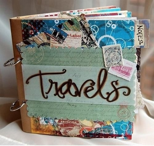 Make a scrap book collaging all of the places you travel.