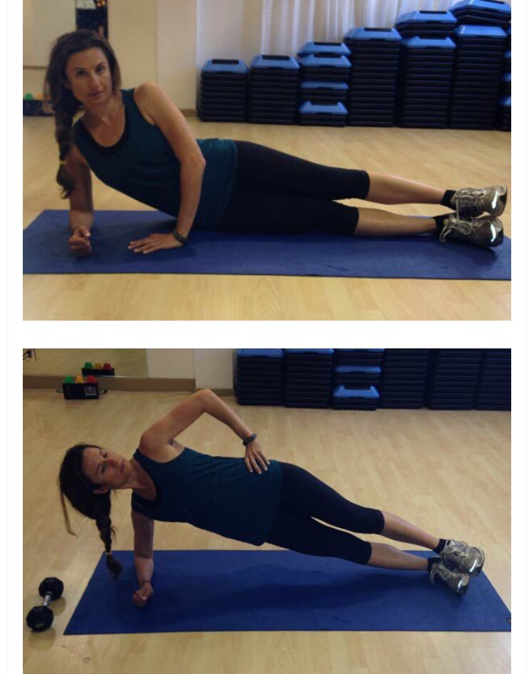 30 side plank hip lifts (15 on each side)