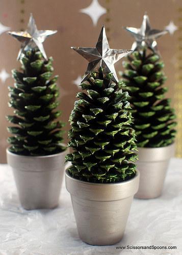 pine cone planters
