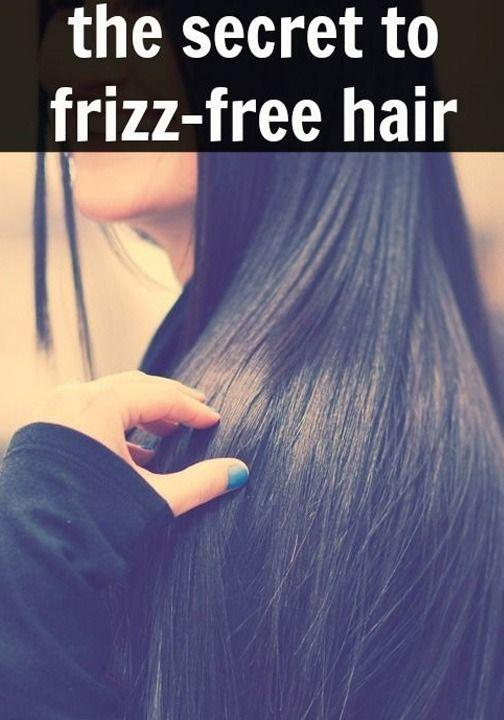 Don't brush hair when wet; Never use towel to dry your hair; Blow drying your hair can also give you frizz free hair