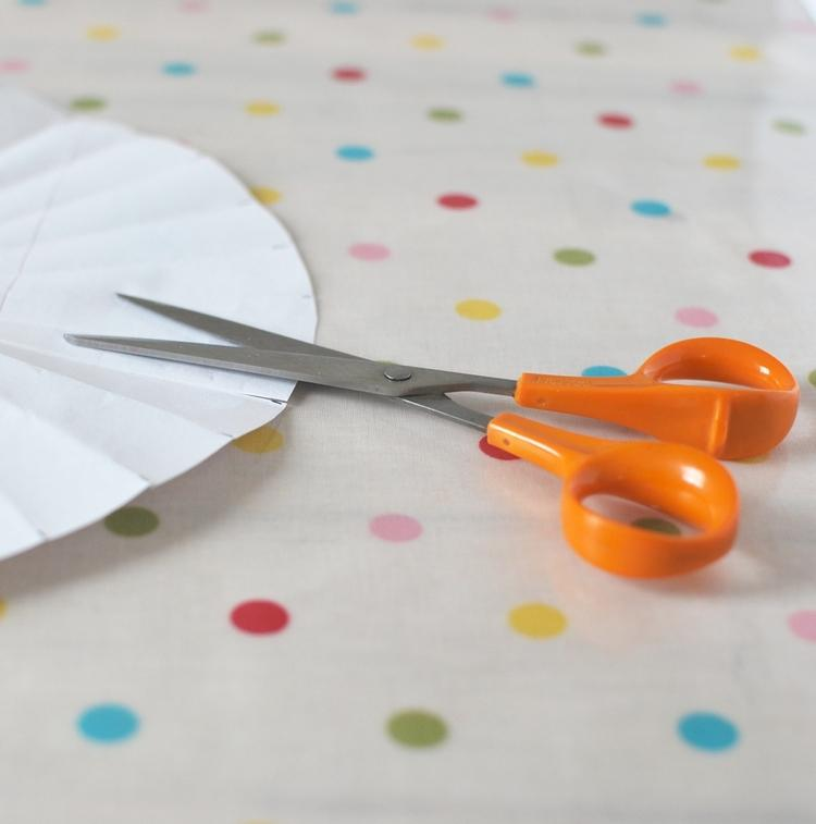 Cut the slits using your scissors.