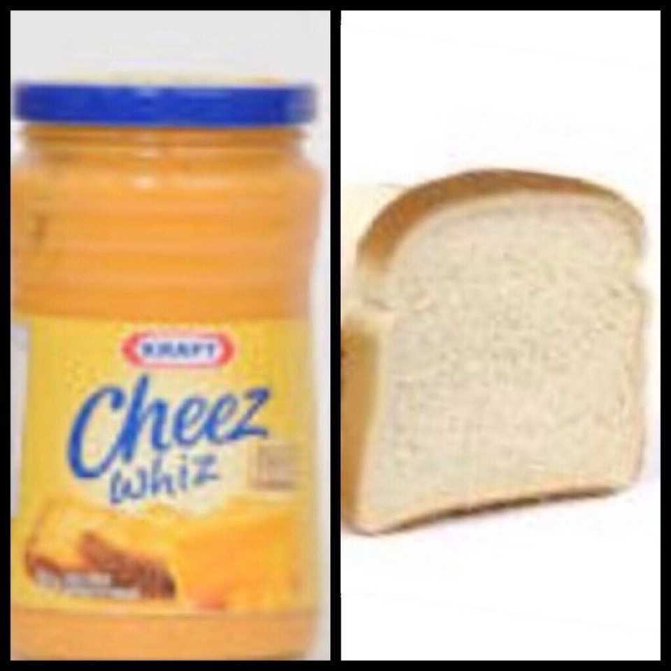 Cheez Whiz sandwiches!