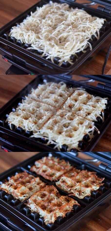 17. Use Your Waffle Iron to Make Perfect Hash Browns Every Time