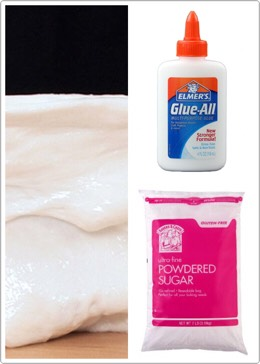 Hey guys! Today I'm going to show how to make slime with powdered sugar and glue. So first get a container then put powdered sugar in it after that put a little bit of glue then keep on adding and mixing until u get the consistency u want. I hope u enjoy!