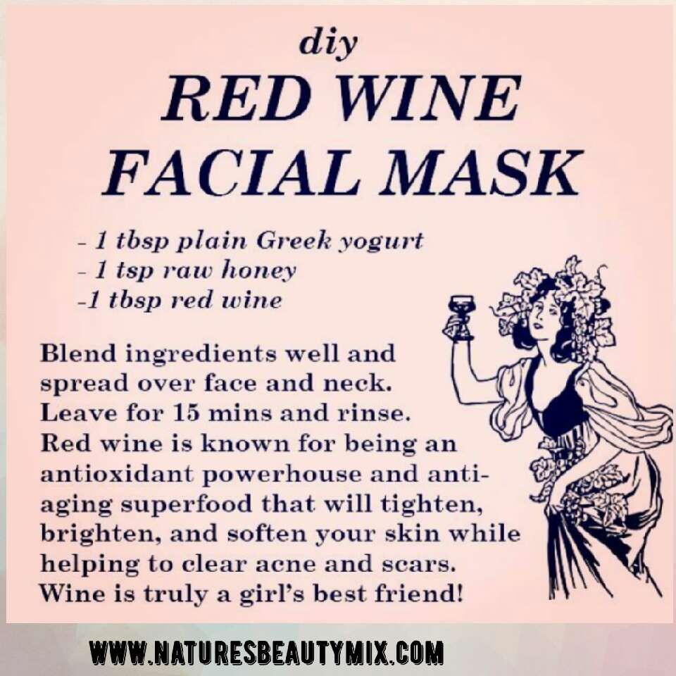 DIY Red wine facial mask