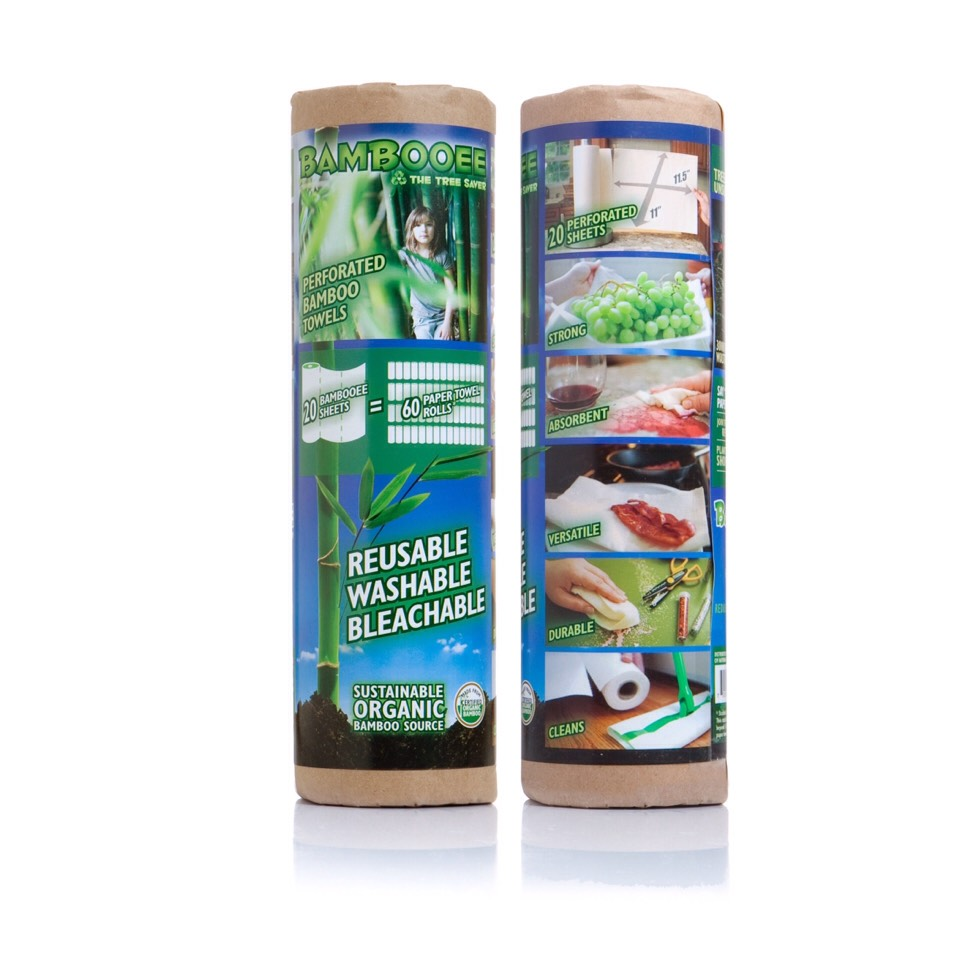 Bambooee Reusable Bamboo Paper Towels $15.95 | Buy It!