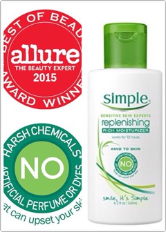 Asimple moisturizer that is formulated withmulti-vitamins, no artificial dyes or perfumes, no parabens+no harsh chemicals.
