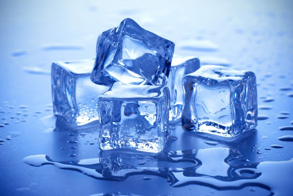 Put ice into cold water and then put wet nails into the water (with ice inside) leave there for about 1-2 minutes and nails should be dry.