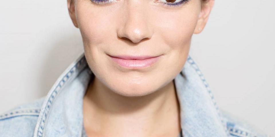 If you don't have any colored mascara laying around, don't worry. You can make your own by applying mascara to your lashes, and then, while it's still tacky right before it dries, dust on a powdered colored eye shadow overtop to tint it.