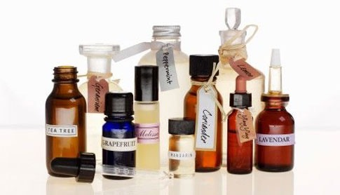 Equal parts of: Lavender, peppermint, orange, cedarwood, and cinnamon essential oils