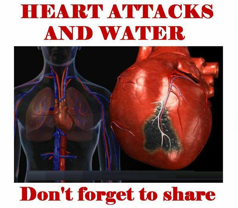 HEART ATTACK AND WATER. Don't forget to share!