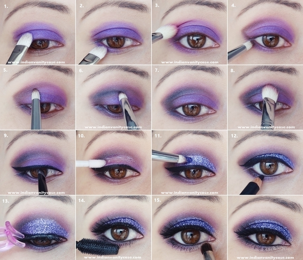 Musely gorgeous purple makeup tutorial baditri Image collections