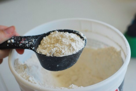 Measure out 1 cup of plaster of Paris and pour it in your mixing bowl.