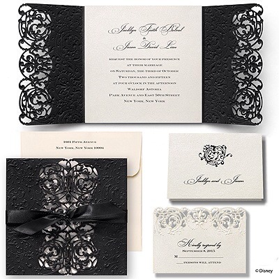 These are the most perfect wedding invitations. They are the Inner Beauty-Belle from the Disney collection. They are so expensive. I was hoping for a DIY
