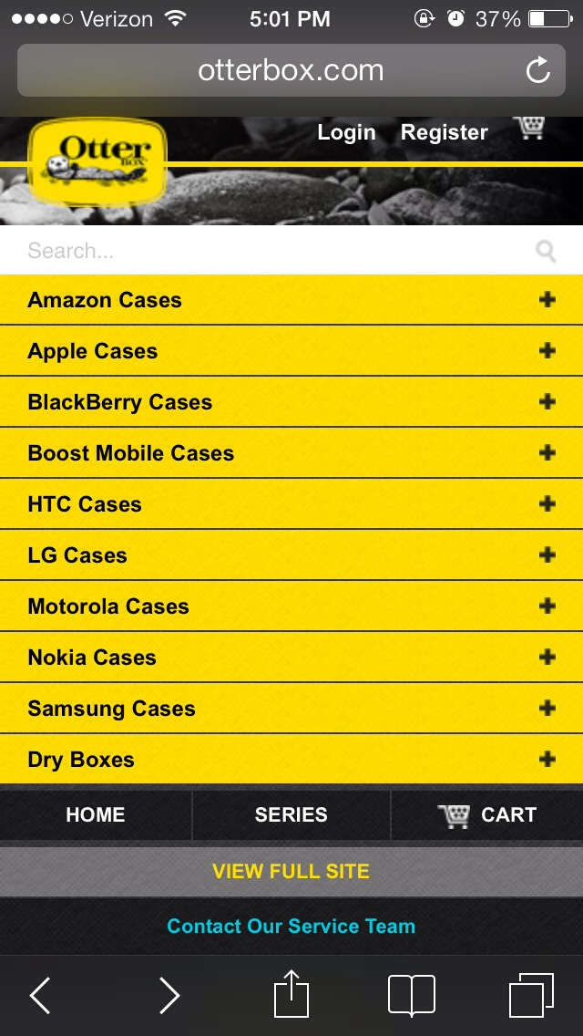 Here's what you got to do. First, go to www.otterbox.com. Next, click on contact our customer service team.