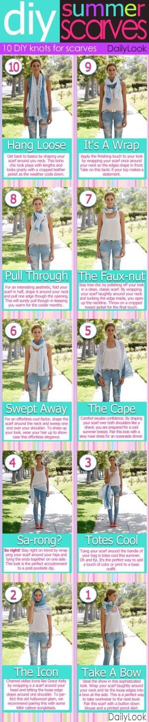 Want to wear your scarf in the warmer weather? Try these simple and effortless looks!