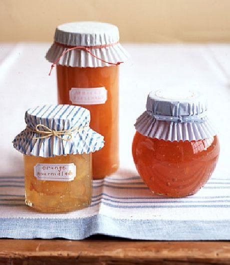 A cute and quick way to decorate small jars! Top them off with a pretty ribbon and they make for fabulous gifts.
