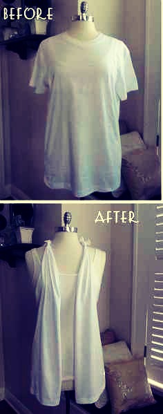 13. Make your own T shirt vest❤️✋