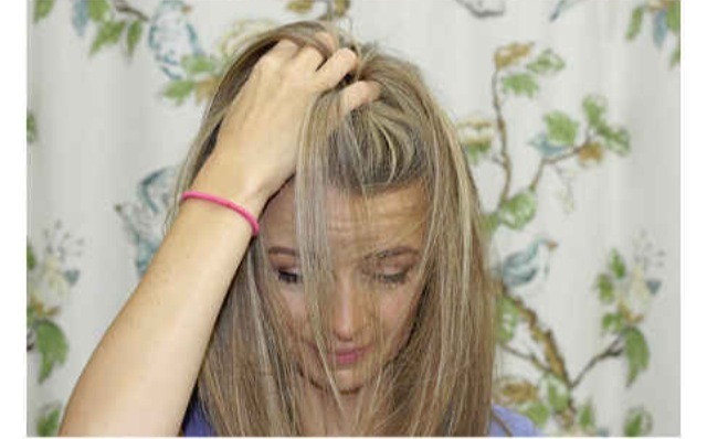 Run hands through your hair to fluff and add extra body