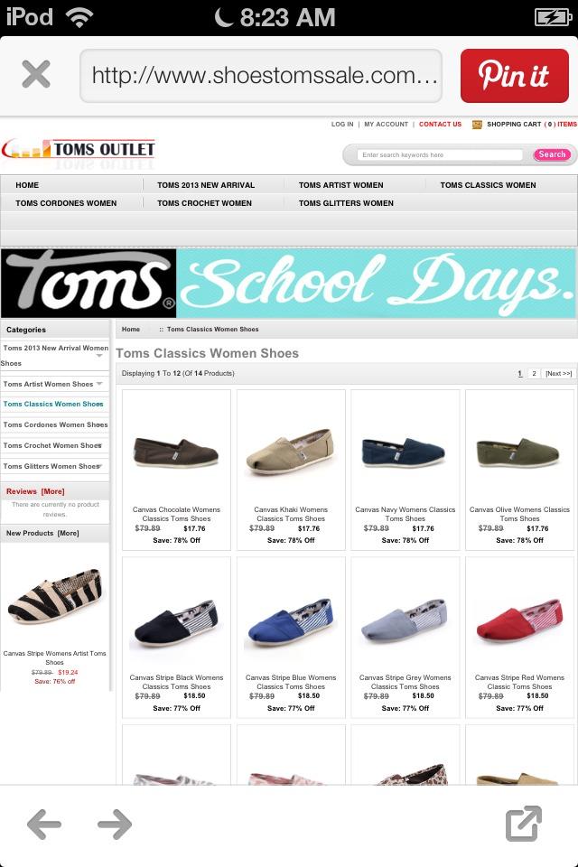 Cheap toms