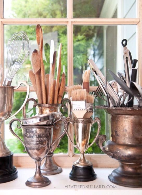 Old Trophies into utensil holders