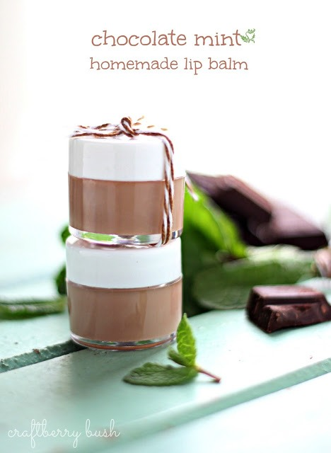 Make your own chocolate lip balm with just chocolate and lip balm