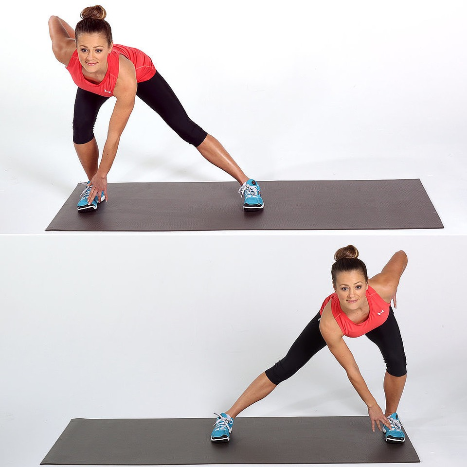 4. Lateral Lunge – 20 Reps •