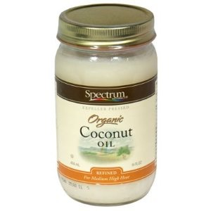 Add the coconut oil. Heat it until it's melted all the way.