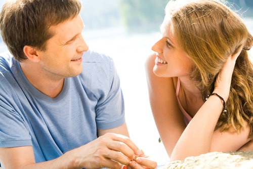 4. Flirting  Flirt subtly in conversations, don't practically throw yourself onto him with compliments. Every guy likes a bit of a challenge. So, tease him jokingly, and play around with him. Touch his arm as you talk, or lightly shove his shoulder. Physical contact is key.