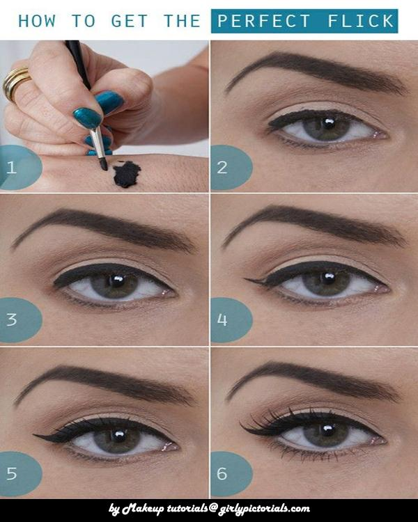 How to get perfect flick eyeliner?Try this trick,it is so simple & easy to implement.This flick Eyeliner gives you a stunning look! More @ http://girlypictorials.com/