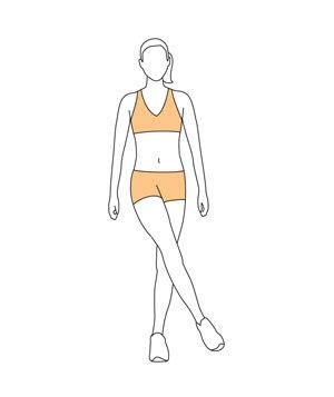 crossed abductionWith feet shoulder-width apart, raise your right leg to a 45-degree angle. Cross it in front of your body and point your toe. Hold for four seconds. Repeat on the left side.